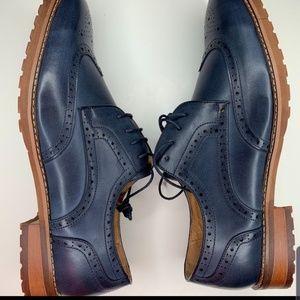 Mens Black Label wingtip shoes